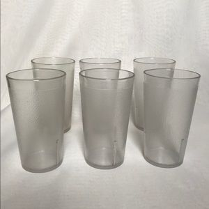 Set of 6 Texan Ware Clear Glasses Tumblers 12 oz.